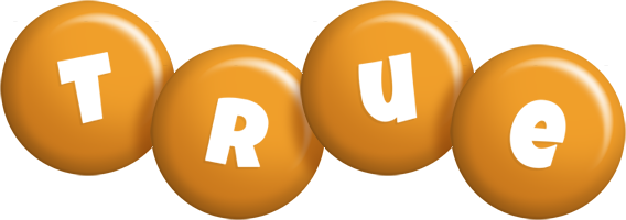 True candy-orange logo