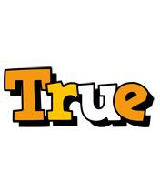 True cartoon logo