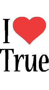 True i-love logo