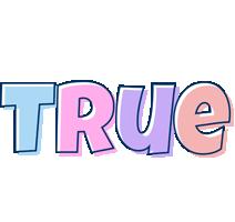 True pastel logo