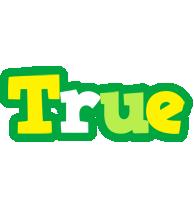 True soccer logo