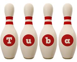 Tuba bowling-pin logo