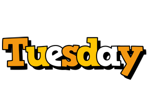Tuesday cartoon logo