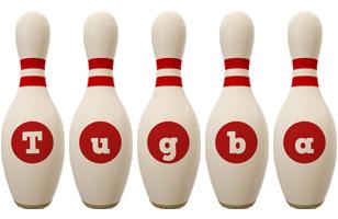 Tugba bowling-pin logo