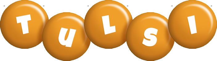 Tulsi candy-orange logo