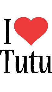 Tutu i-love logo
