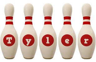 Tyler bowling-pin logo