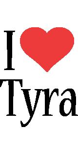 Tyra i-love logo