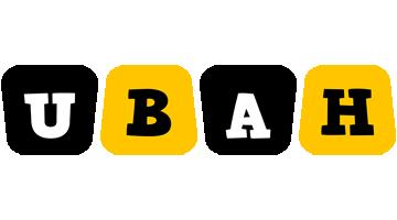 Ubah boots logo