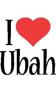 Ubah i-love logo