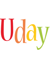 Uday birthday logo