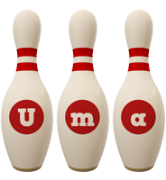 Uma bowling-pin logo