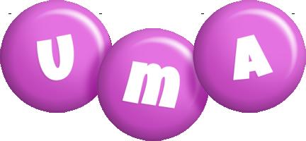 Uma candy-purple logo