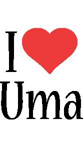 Uma i-love logo