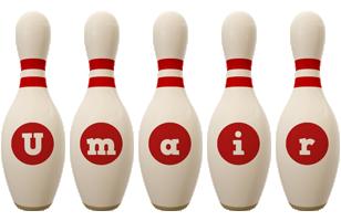 Umair bowling-pin logo
