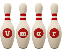 Umar bowling-pin logo