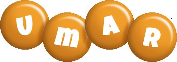 Umar candy-orange logo