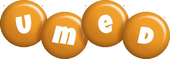 Umed candy-orange logo