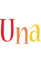 Una birthday logo