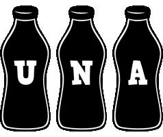 Una bottle logo