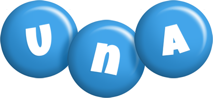 Una candy-blue logo