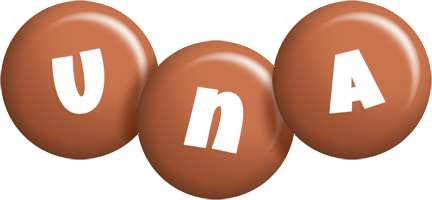 Una candy-brown logo