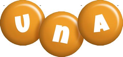 Una candy-orange logo