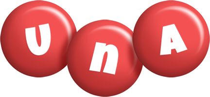 Una candy-red logo