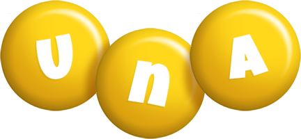 Una candy-yellow logo