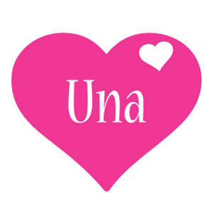 Una love-heart logo