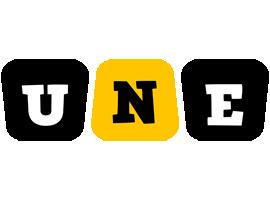 Une boots logo