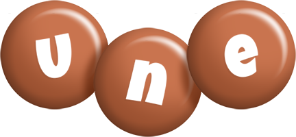 Une candy-brown logo