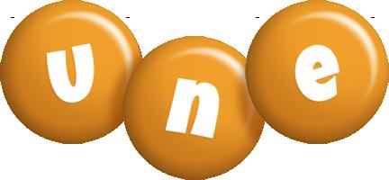 Une candy-orange logo