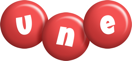 Une candy-red logo