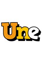 Une cartoon logo