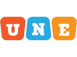 Une comics logo