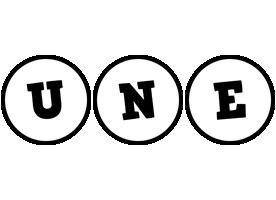 Une handy logo