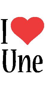 Une i-love logo