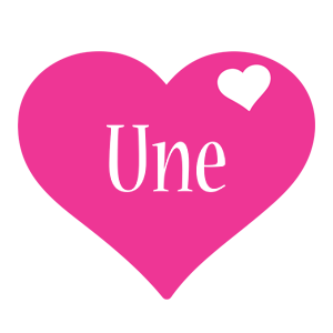 Une love-heart logo