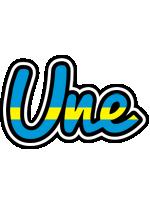 Une sweden logo