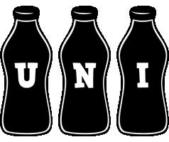 Uni bottle logo