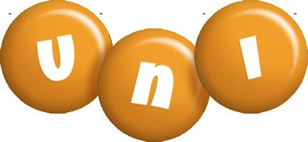 Uni candy-orange logo
