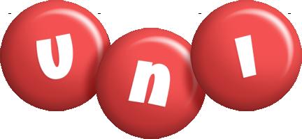 Uni candy-red logo