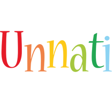 Unnati birthday logo