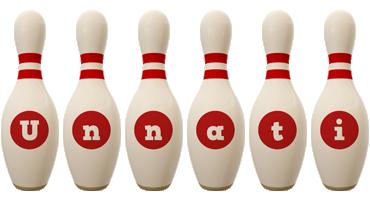 Unnati bowling-pin logo