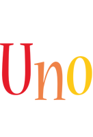 Uno birthday logo
