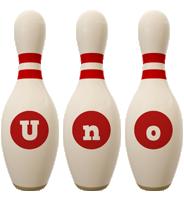 Uno bowling-pin logo