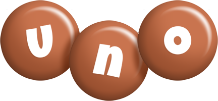 Uno candy-brown logo