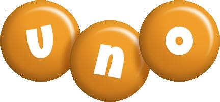 Uno candy-orange logo