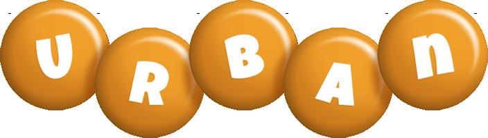 Urban candy-orange logo